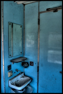 Abandoned train WC