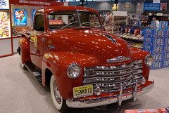hot rod(0.0), chevrolet(1.0), automobile(1.0), pickup truck(1.0), vehicle(1.0), truck(1.0), custom car(1.0), auto show(1.0), chevrolet advance design(1.0), antique car(1.0), vintage car(1.0), land vehicle(1.0), motor vehicle(1.0), classic(1.0),