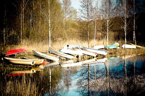 lake water canon reflections boat spring 5d lappeenranta ef70200mmf4lisusm