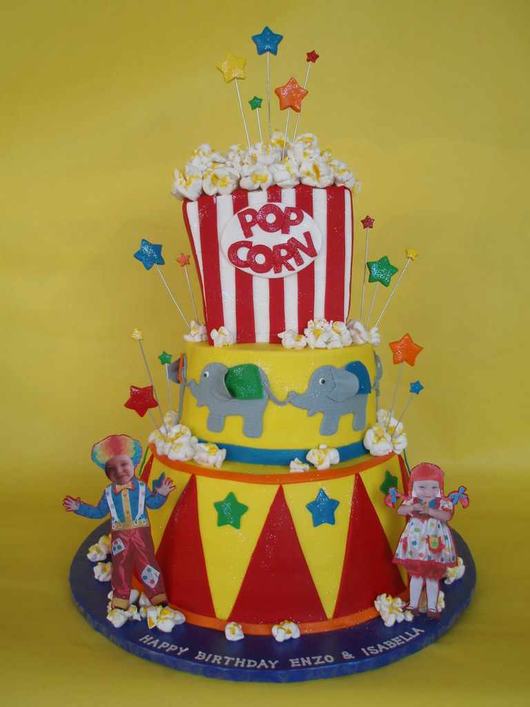 Circus-Carnival Themed Birthday Cake - a photo on Flickriver