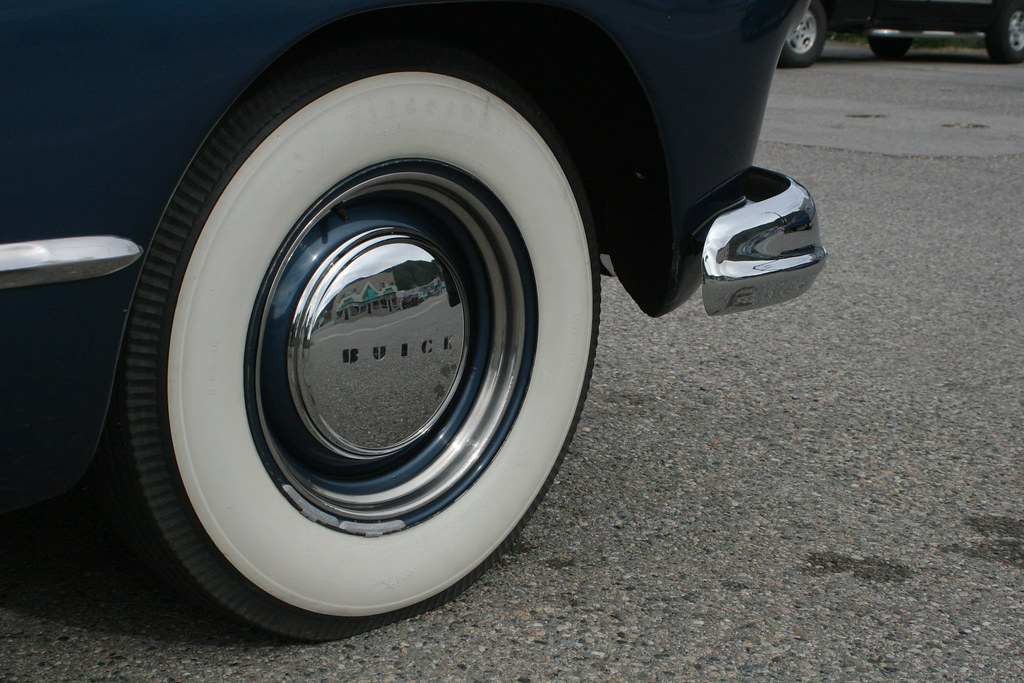 Whitewall Tires of a Buick '47