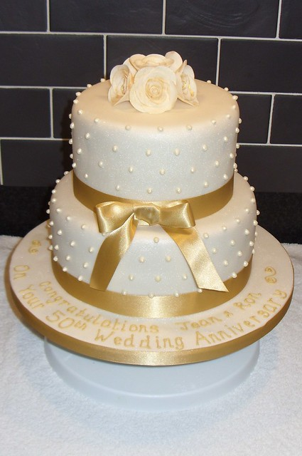 Golden Wedding Anniversary Cake Flickr - Photo Sharing!