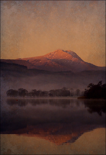 Ben Lomond and Loch Ard... mist and sun..