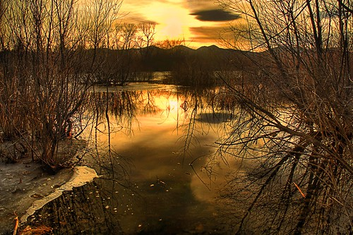 winter sunset lake colorado denver harrimanlake canoneoskissx2 dragondaggerphoto tamaron18200