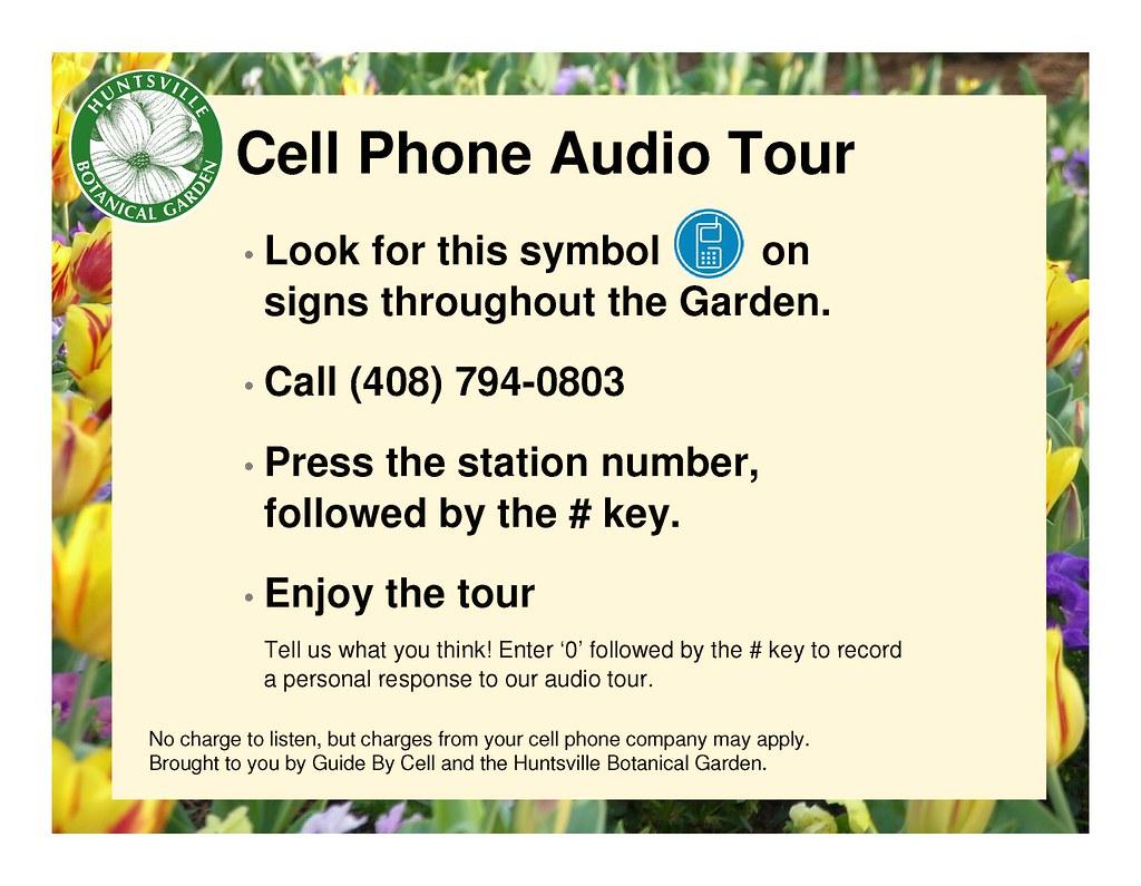 Huntsville Botanical Garden, Intro Sign