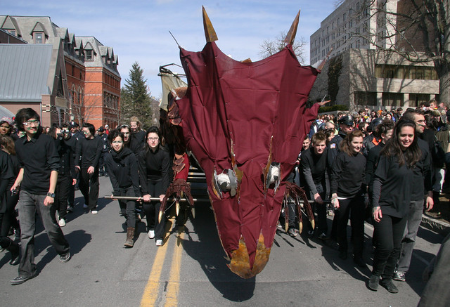Scenes from Cornell University's 108th annual Dragon Day on March 13, 2009.