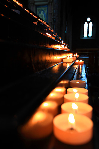 blue ireland orange reflection lights candles shadows bokeh wideangle stainedglass kerry killarney saintmaryscathedral bokehlicious canonef1635mmf28liiusm canoneos5dmarkii yalestudio