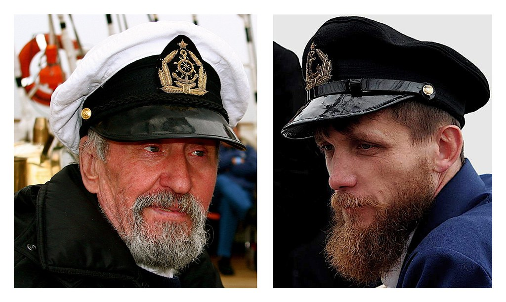 "1st and 2nd Helmsmen of the tall ship ""SEDOV"""