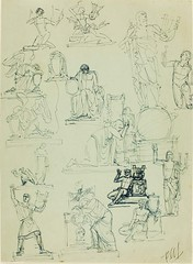 Paul Manship: (Studies of Orpheus and Funerary Monuments), 1934