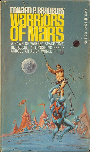 Warriors of Mars - Edward P. Bradbury - cover by Morrow