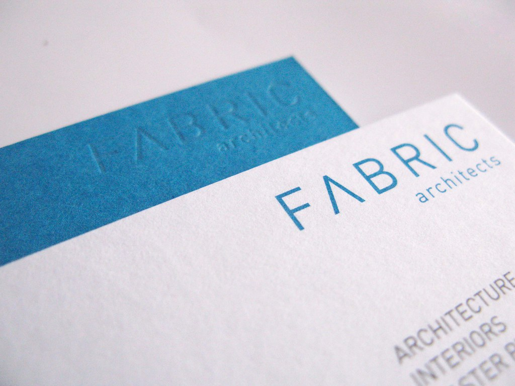 Fabric Architects Business Card - Logo Close up - a photo on ...