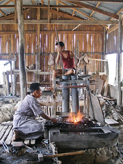 wood, forge, iron, person, blacksmith,