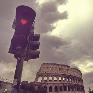 Love Stopping at Colosseum