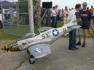 Abgeschleppt: P-51 Mustang