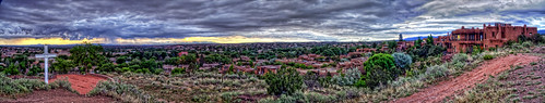 park old panorama newmexico santafe by buildings fort marcy growth nm joeldeluxe development stitched hdr besieged crossofthemartyrs