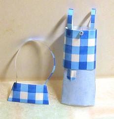 Top, skirt and handbag