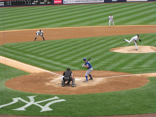 View from behind home plate at yankee stadium flickr photo