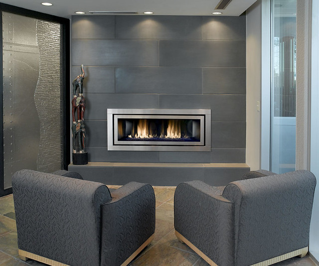 Solus Cast Concrete Tiled Fireplace 16x48 in Shiitake ...