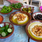 Mezze in the souk at Sidon