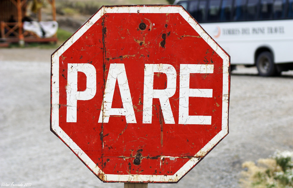 Stop - Pare - Cueva del Milodón - Patagonia - Chile