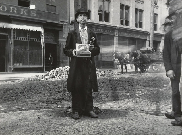 Blind Beggar, New York, 1890, by Jacob Riis