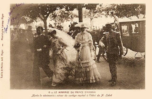 ALGERIE 1904 - Le mariage du Prince d'Annam - Đám cưới vua Hàm Nghi ở Algerie