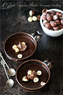 Dark Chocolate Nutella Kumquat Pudding