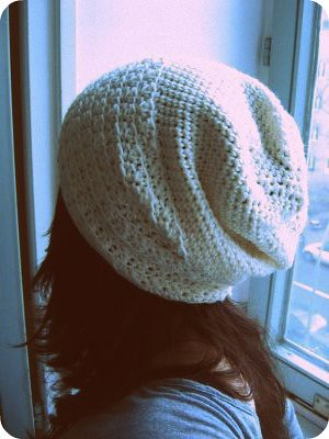 Loose Beret Knitting Pattern : Slouchy crocheted hat Flickr - Photo Sharing!