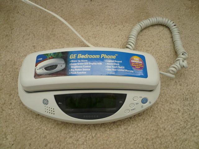 bedroom phone w large led alarm clock 10 flickr