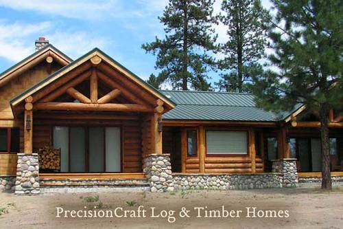 Oregon Log Home Custom Design By Precisioncraft Log