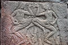 Intricate Carvings of Apsara Dancers