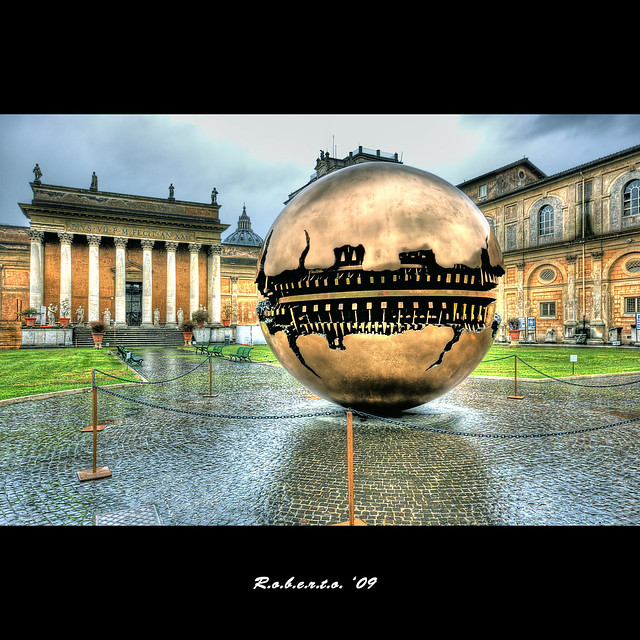 Sphere within sphere by Pomodoro