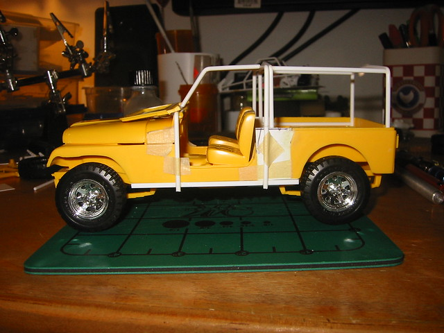 Jeep CJ8 Scrambler (1/24 scale scratchbuild)