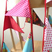 Handmade Bunting 11.5 feet/ 3.5 meters long Red summer
