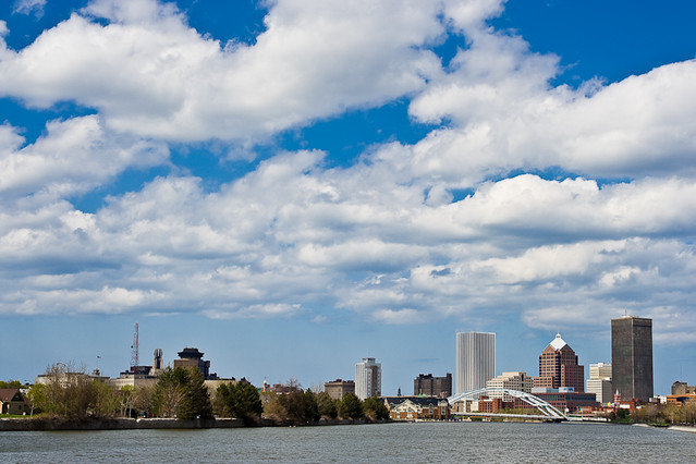 Rochester Skyline with Clouds