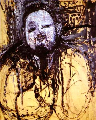Modigliani, Amadeo - 1914 Portrait of Diego Rivera (Museo de Arte, Sao Paolo, Brazil)