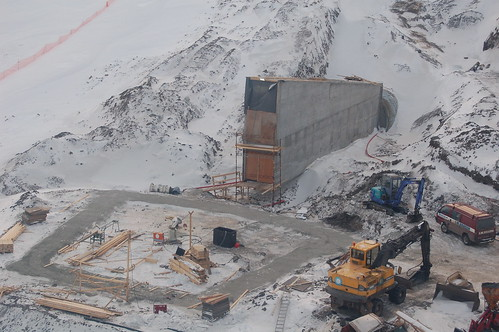 Svalbard Global Seed Vault Under Construction