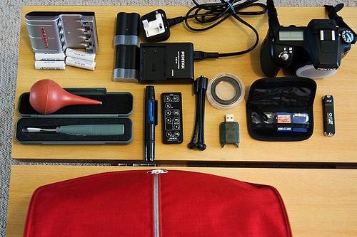 travel gear: kit