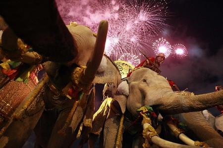 Firework Ceremony In Thailand