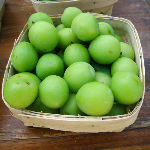 Turkish green sour plums