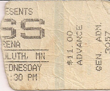 Troy's Tickets (03-13-85 Kiss/Dokken @ Duluth, MN)
