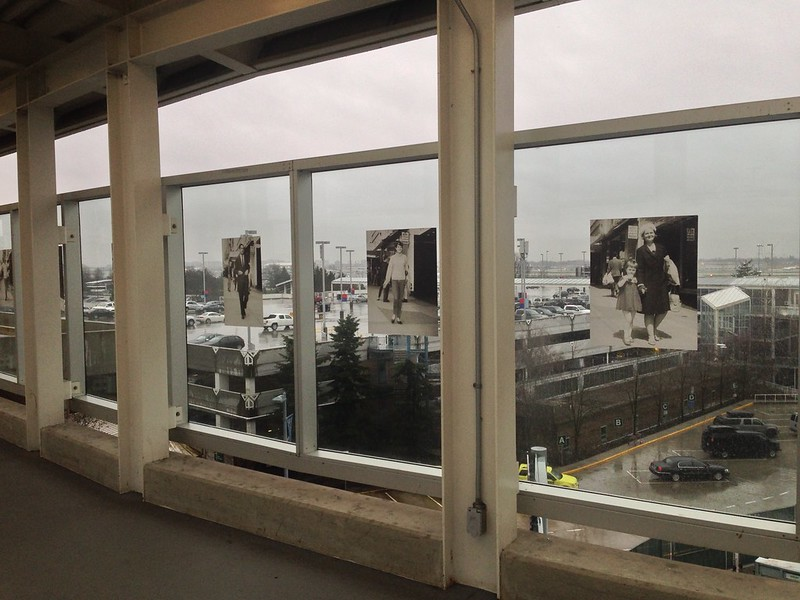 Foncie Pulice's photographs at YVR Canada Line Station