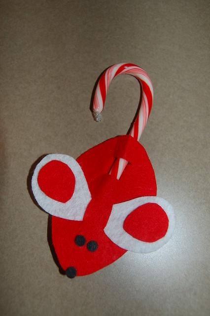 Felt mouse candy cane ornament http www flickr com photos 21931030
