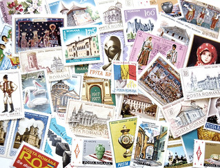 Romanian Stamps Postcard