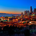 Seattle Alive at Sunset by Surrealize