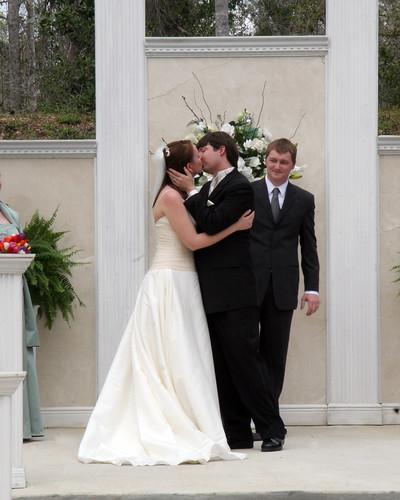 wedding anna kiss joshua platform ceremony ring lyle