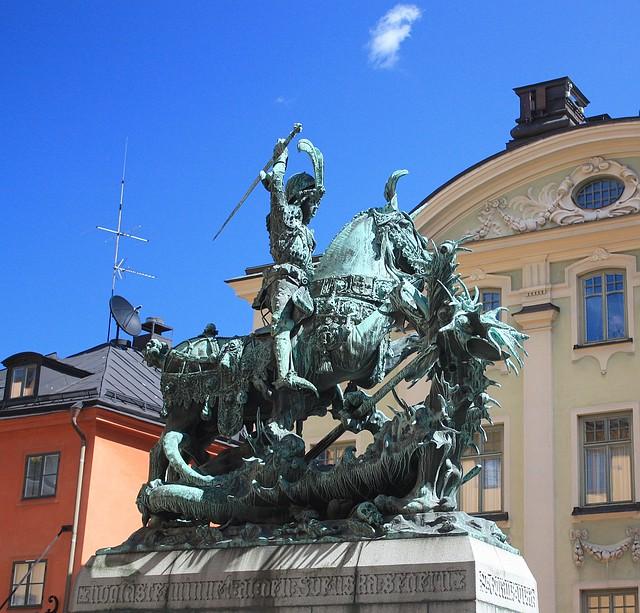 Sankt Göran och Draken (St. George & the Dragon), Köpmanbrinken, Gamla Stan, Stockholm, Sweden