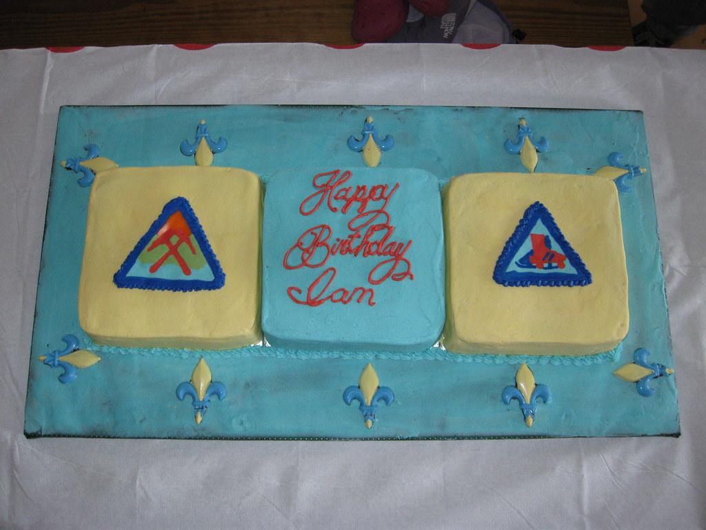 Ians Boy Scout Birthday Cake