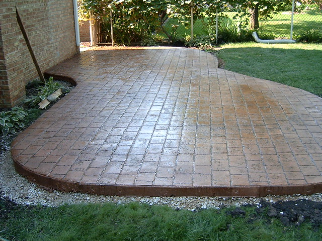 colored stamped concrete patio colored stamped concret