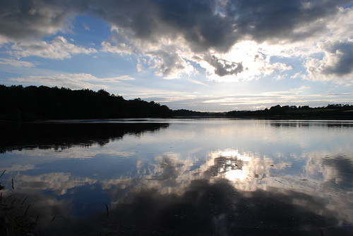 ireland irish reflection water sunshine clouds river countywexford ferrycarrig riverslaney